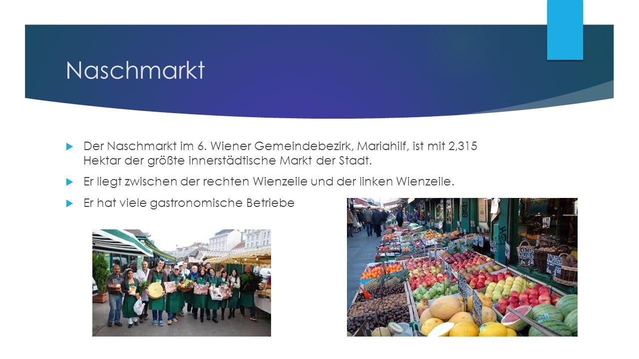 Naschmarkt  Der Naschmarkt im 6.