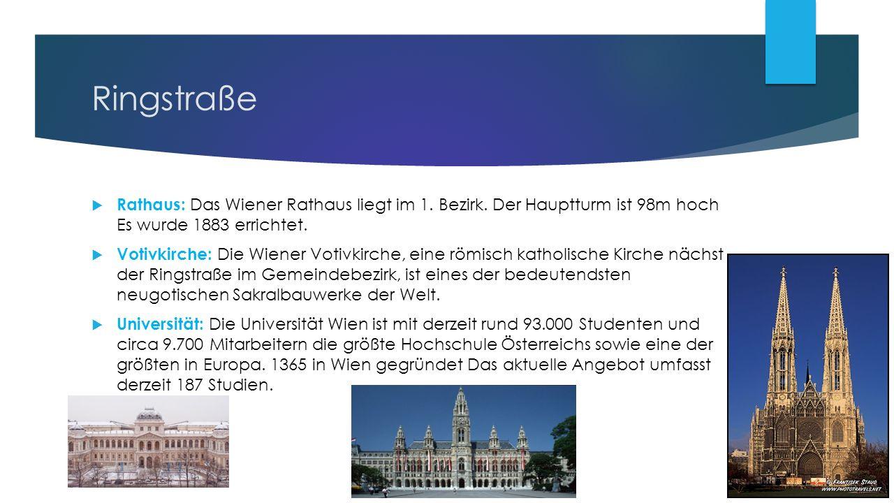 Ringstraße  Rathaus: Das Wiener Rathaus liegt im 1.
