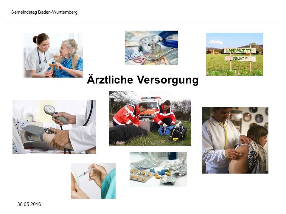 Gemeindetag Baden-Württemberg 30.05.2016 Ärztliche Versorgung