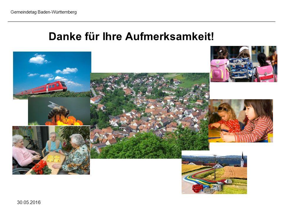 Gemeindetag Baden-Württemberg 30.05.2016 Danke für Ihre Aufmerksamkeit!