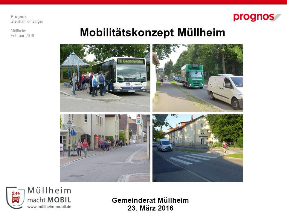 Prognos Stephan Kritzinger Müllheim Februar 2016 Mobilitätskonzept Müllheim Gemeinderat Müllheim 23.