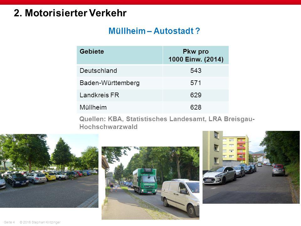 Seite 4© 2015 Stephan Kritzinger 2. Motorisierter Verkehr Müllheim – Autostadt .