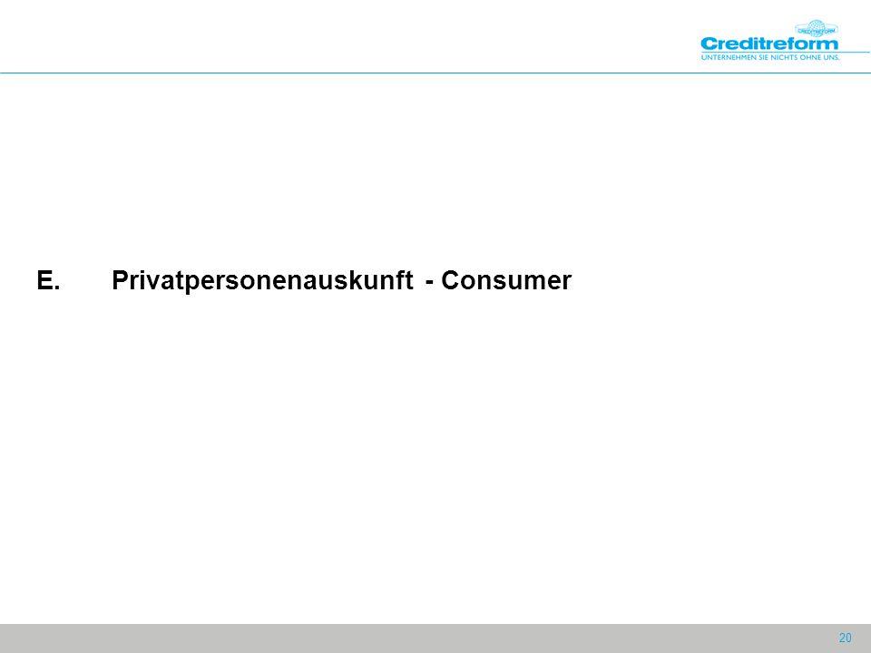 20 E.Privatpersonenauskunft - Consumer
