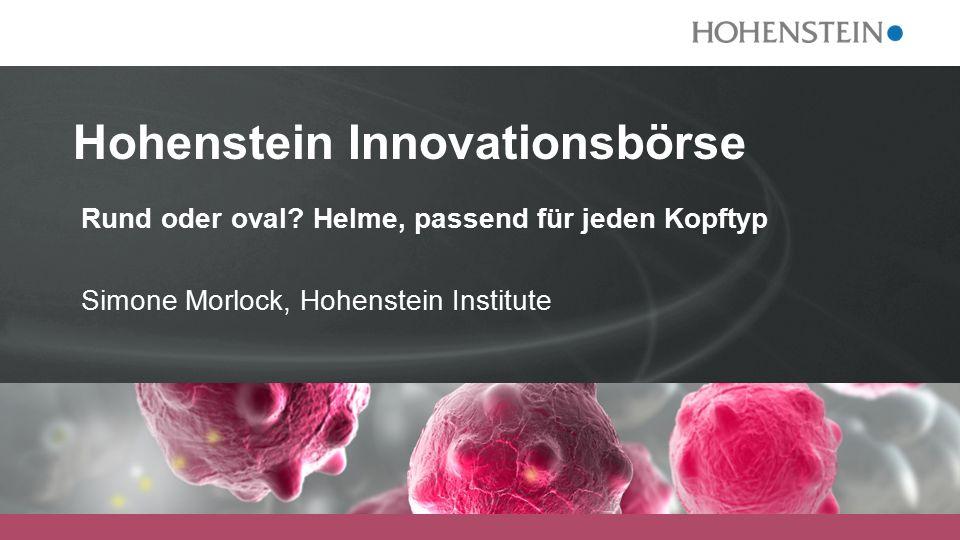Hohenstein Innovationsbörse Rund oder oval.