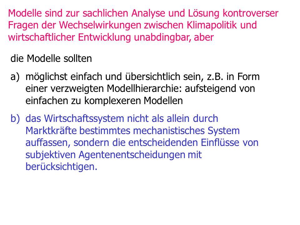die Modelle sollten a)möglichst einfach und übersichtlich sein, z.B.