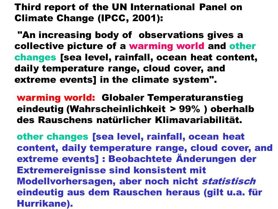 Das Problem ist nicht die heute beobachtete globale Erwärmung von 0.8 0 C, sondern die prognostizierte Erwärmung von ca.