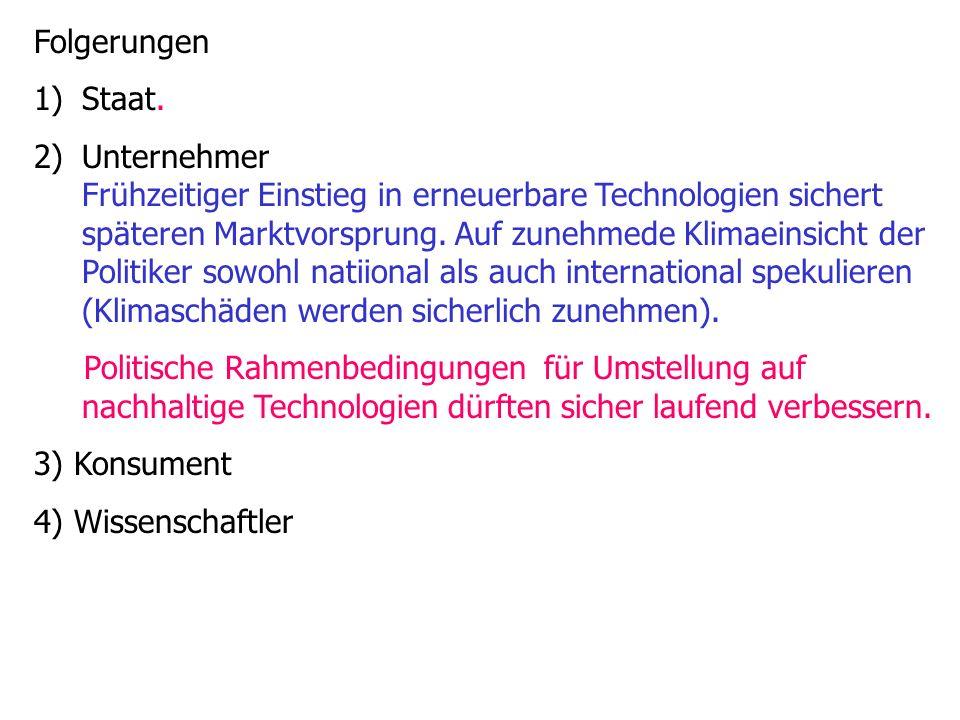 Folgerungen 1)Staat.