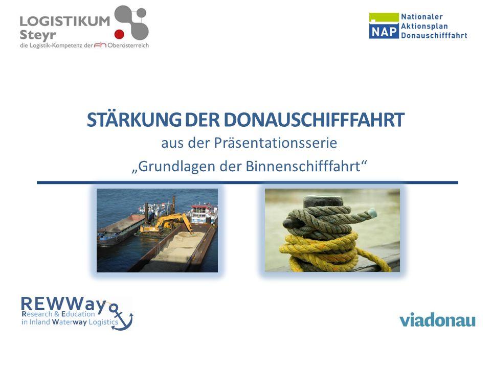 """STÄRKUNG DER DONAUSCHIFFFAHRT aus der Präsentationsserie """"Grundlagen der Binnenschifffahrt"""