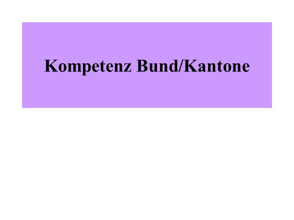 Kompetenz Bund/Kantone