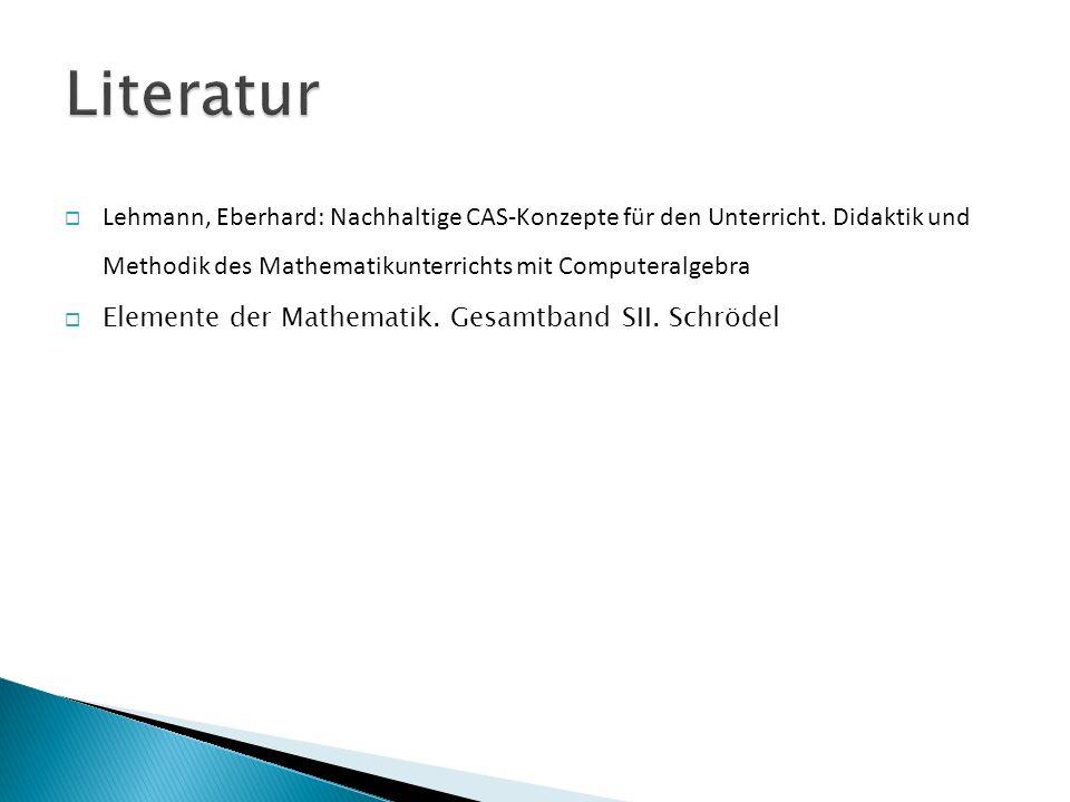  Lehmann, Eberhard: Nachhaltige CAS-Konzepte für den Unterricht.