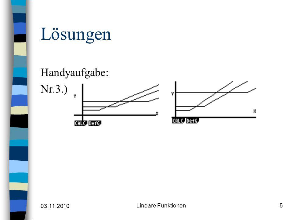 03.11.2010 Lineare Funktionen5 Lösungen Handyaufgabe: Nr.3.)