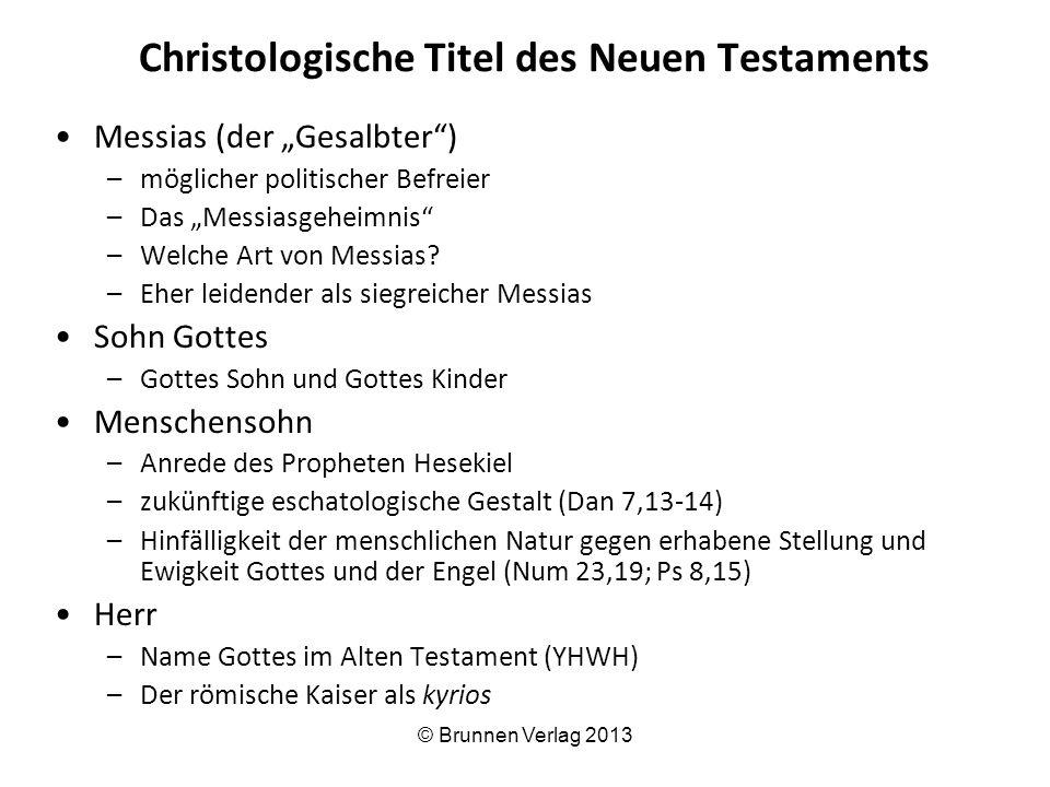 """Christologische Titel des Neuen Testaments Messias (der """"Gesalbter ) –möglicher politischer Befreier –Das """"Messiasgeheimnis –Welche Art von Messias."""