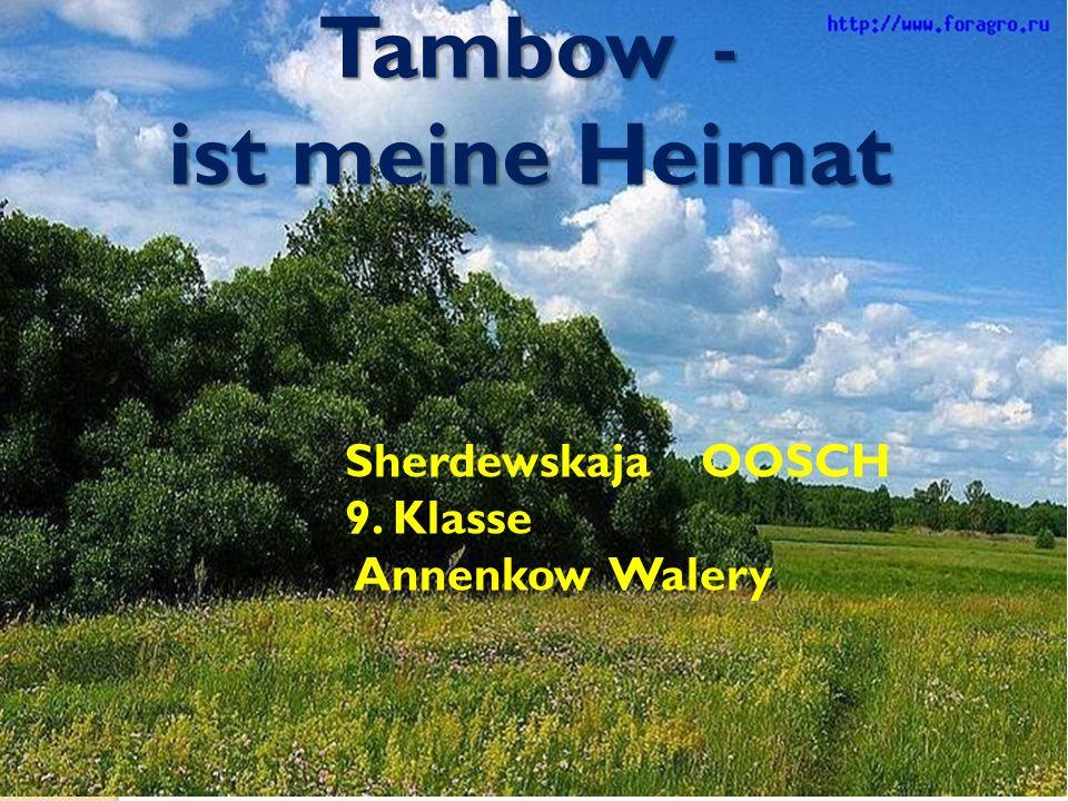 Tambow - ist meine Heimat Sherdewskaja OOSCH 9. Klasse Annenkow Walery