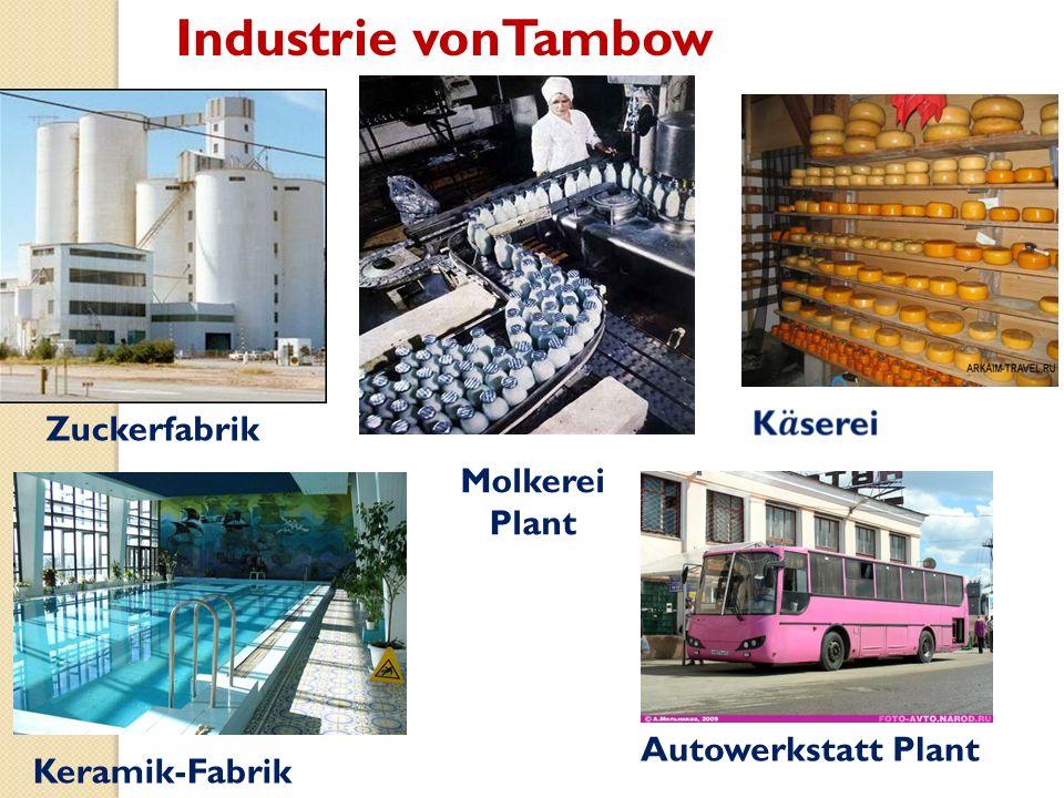 Industrie vonTambow Zuckerfabrik Molkerei Plant Keramik-Fabrik Autowerkstatt Plant