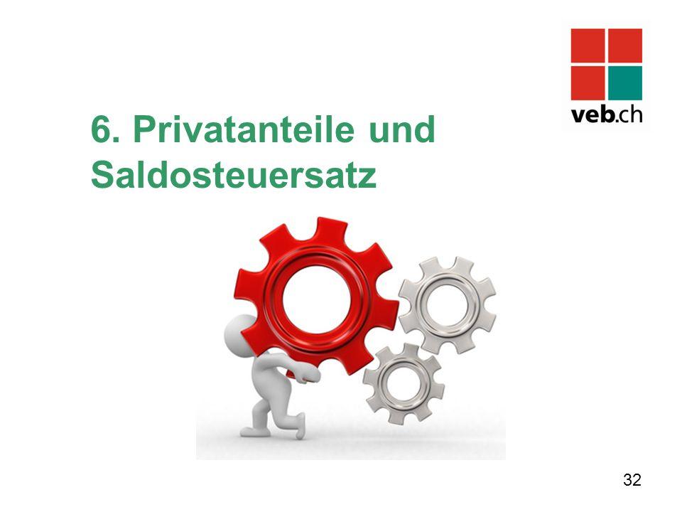 6. Privatanteile und Saldosteuersatz 32