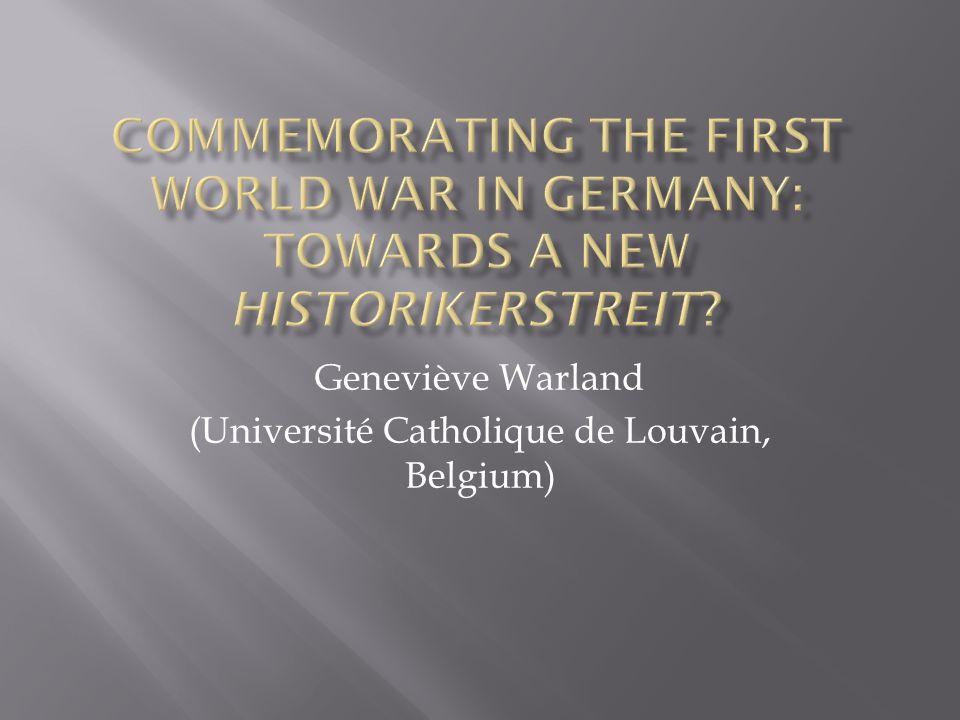 Geneviève Warland (Université Catholique de Louvain, Belgium)