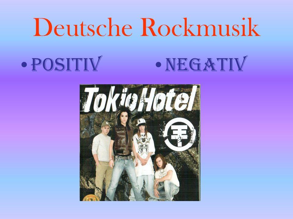 Deutsche Rockmusik POSITIVNEGATIV