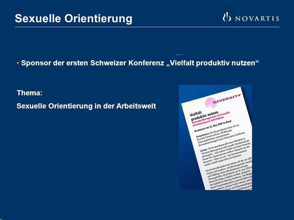 """Sexuelle Orientierung Sponsor der ersten Schweizer Konferenz """"Vielfalt produktiv nutzen Thema: Sexuelle Orientierung in der Arbeitswelt"""