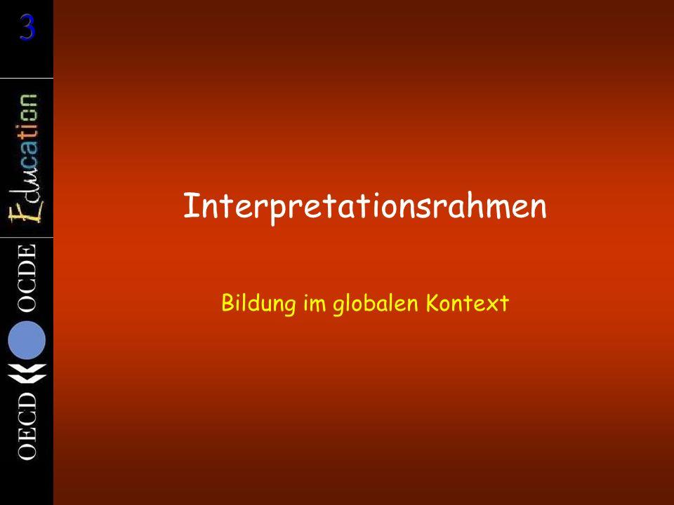 Interpretationsrahmen Bildung im globalen Kontext