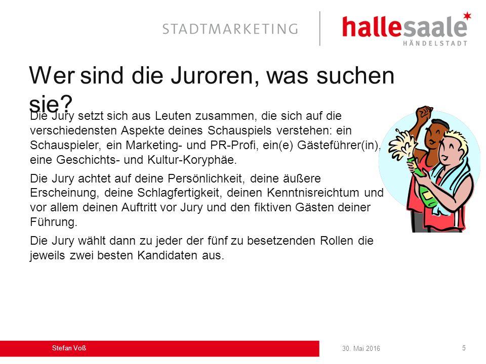 30.Mai 2016 Stefan Voß 5 Wer sind die Juroren, was suchen sie.