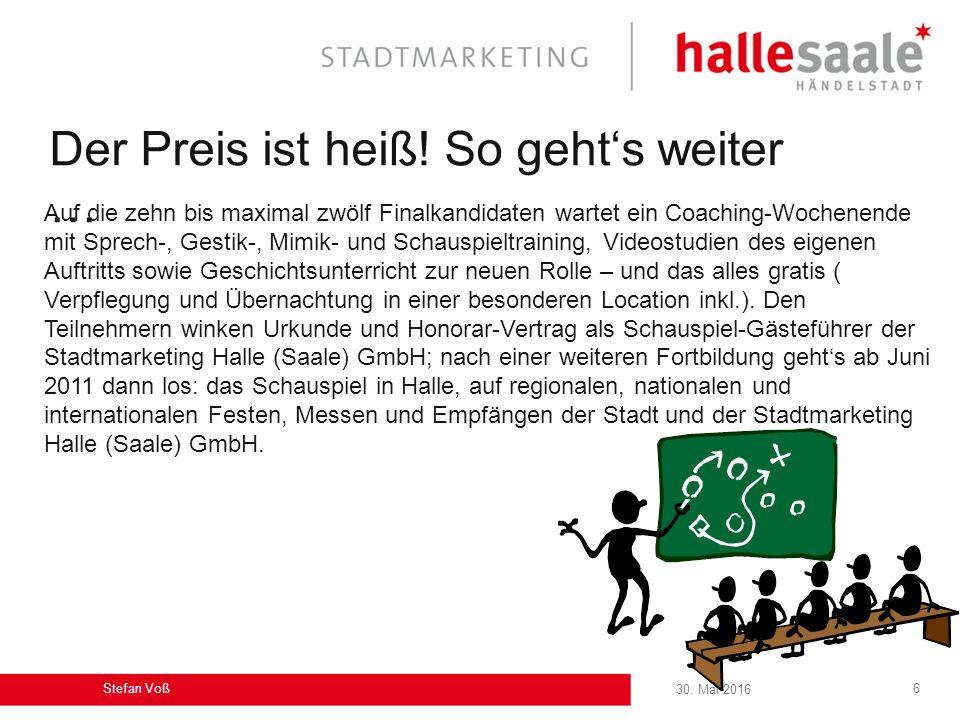 30.Mai 2016 Stefan Voß 6 Der Preis ist heiß.