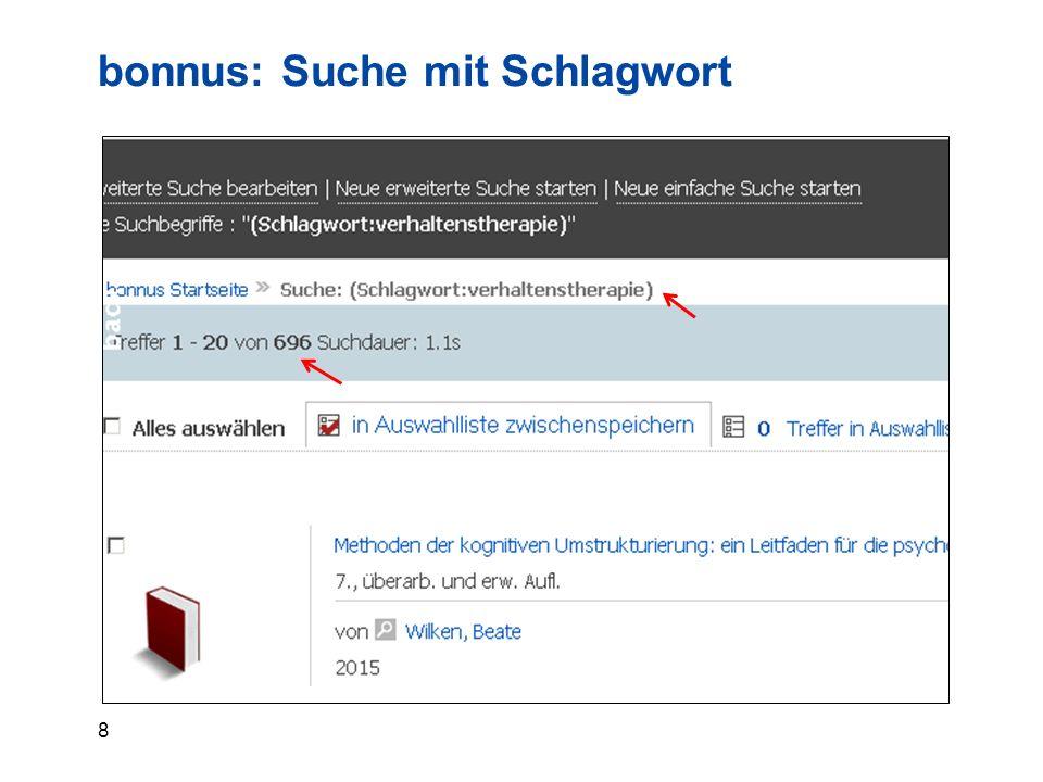 9 bonnus: Suche filtern