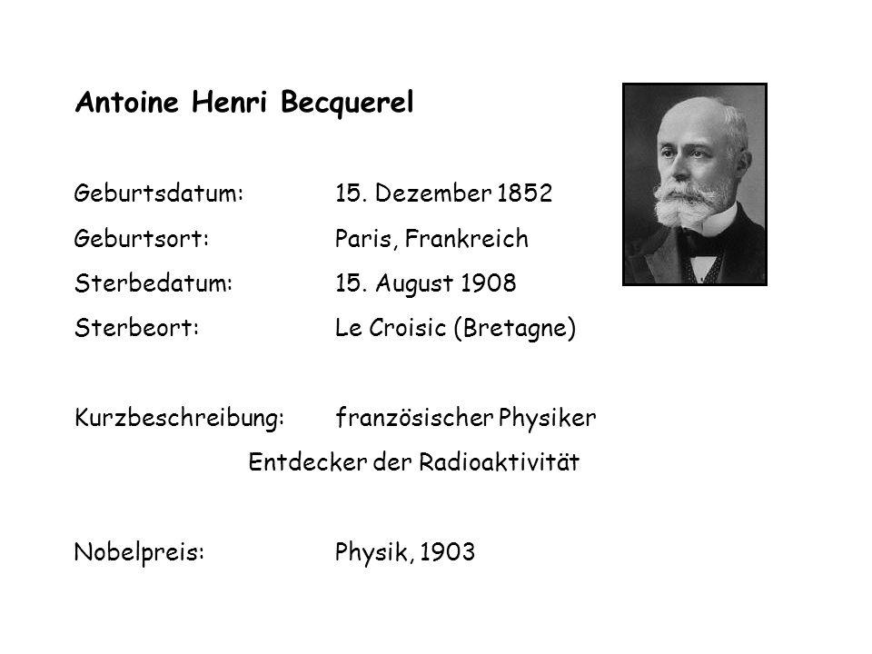 Geburtsdatum: 15. Dezember 1852 Geburtsort: Paris, Frankreich Sterbedatum: 15.