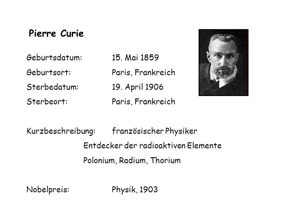 Geburtsdatum: 15. Mai 1859 Geburtsort: Paris, Frankreich Sterbedatum: 19.