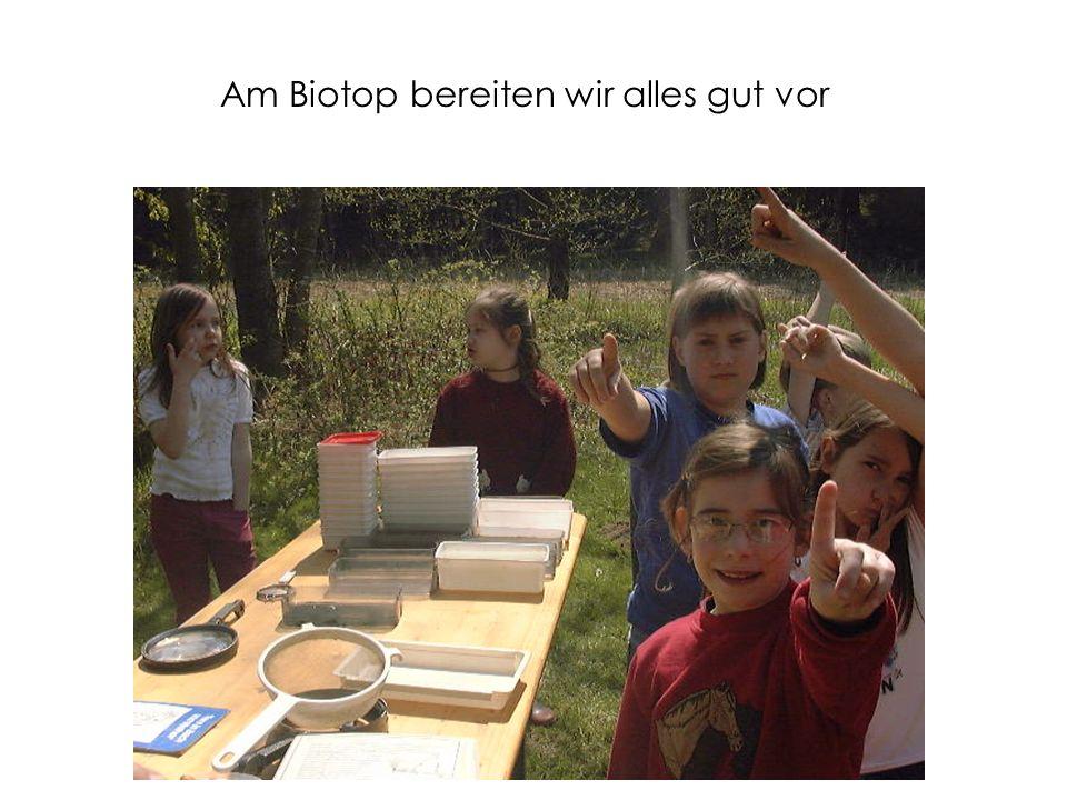 Am Biotop bereiten wir alles gut vor