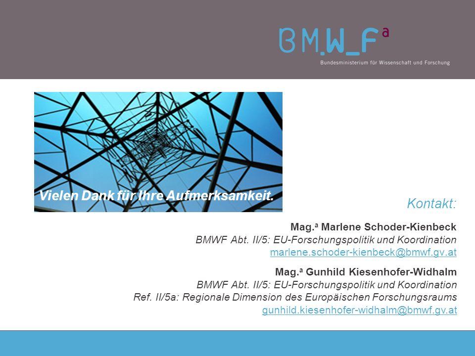 Kontakt: Mag. a Marlene Schoder-Kienbeck BMWF Abt.