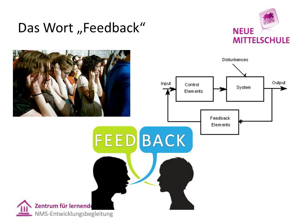 """Das Wort """"Feedback"""