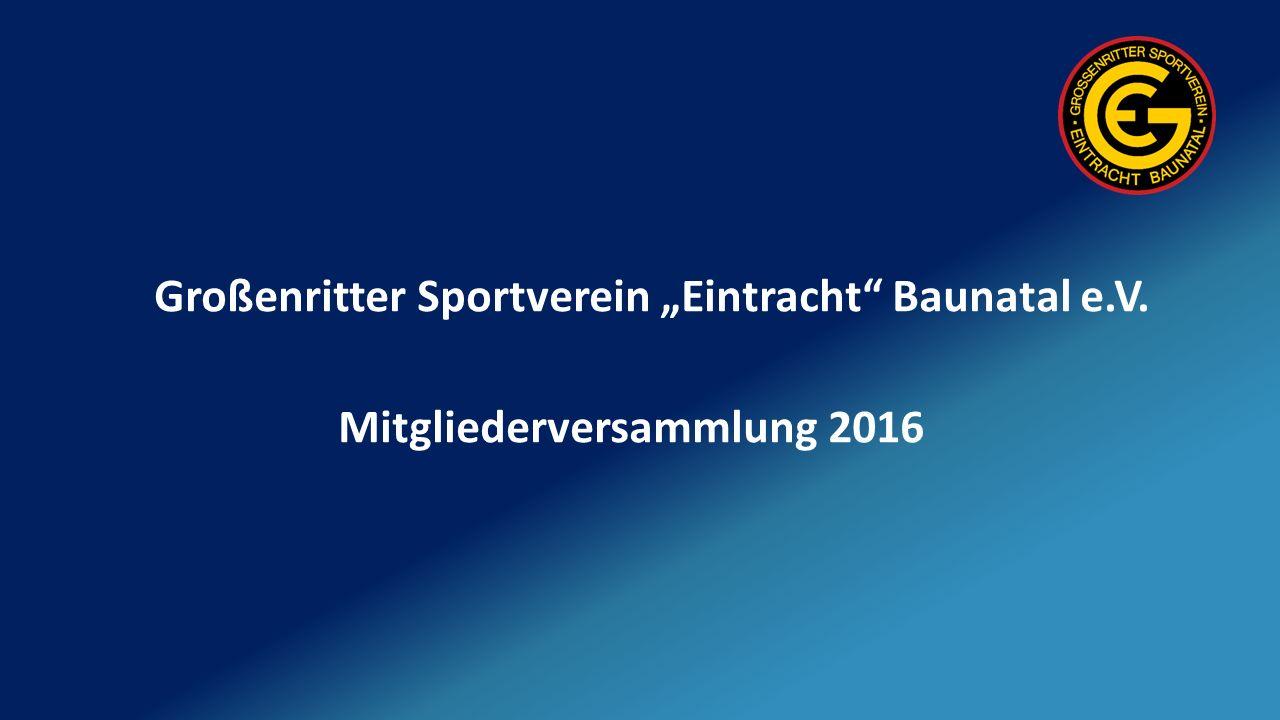 """Großenritter Sportverein """"Eintracht Baunatal e.V. Mitgliederversammlung 2016"""