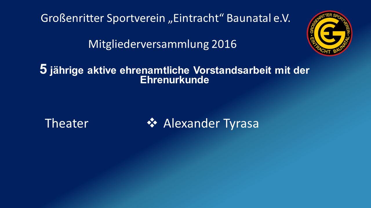 """Großenritter Sportverein """"Eintracht Baunatal e.V."""