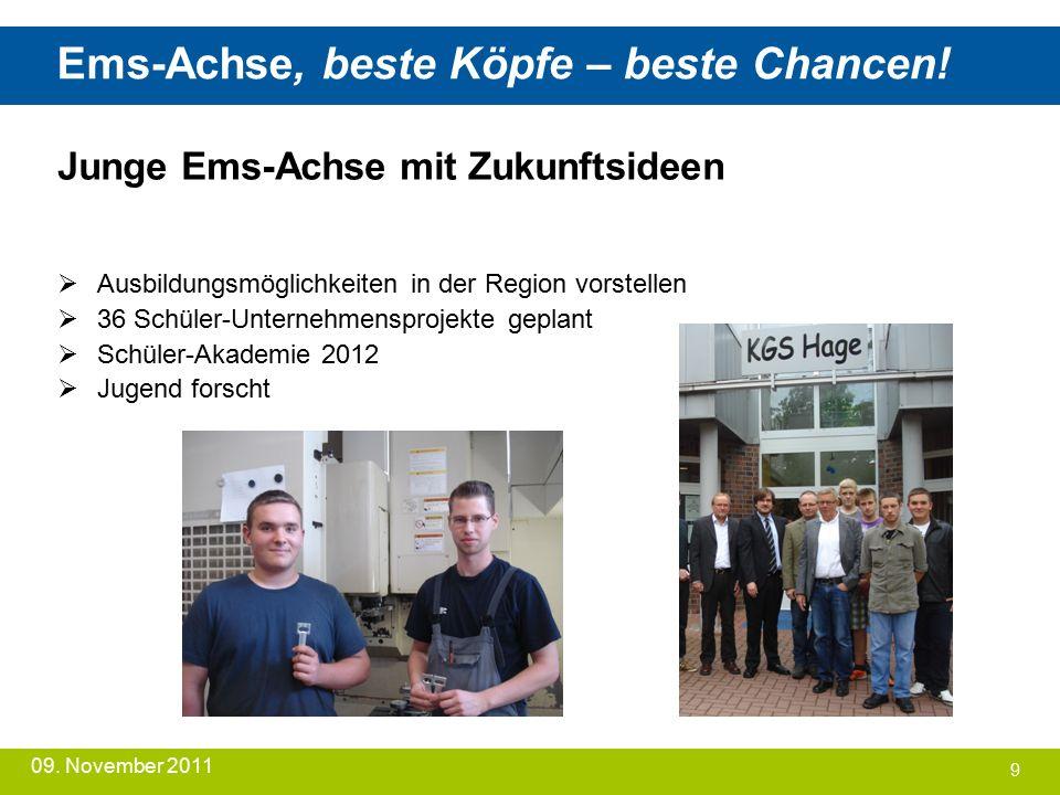 Ems-Achse, beste Köpfe – beste Chancen. 09.