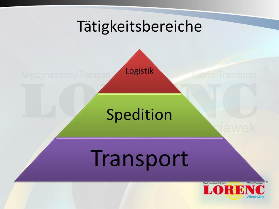 Tätigkeitsbereiche Logistik Spedition Transport