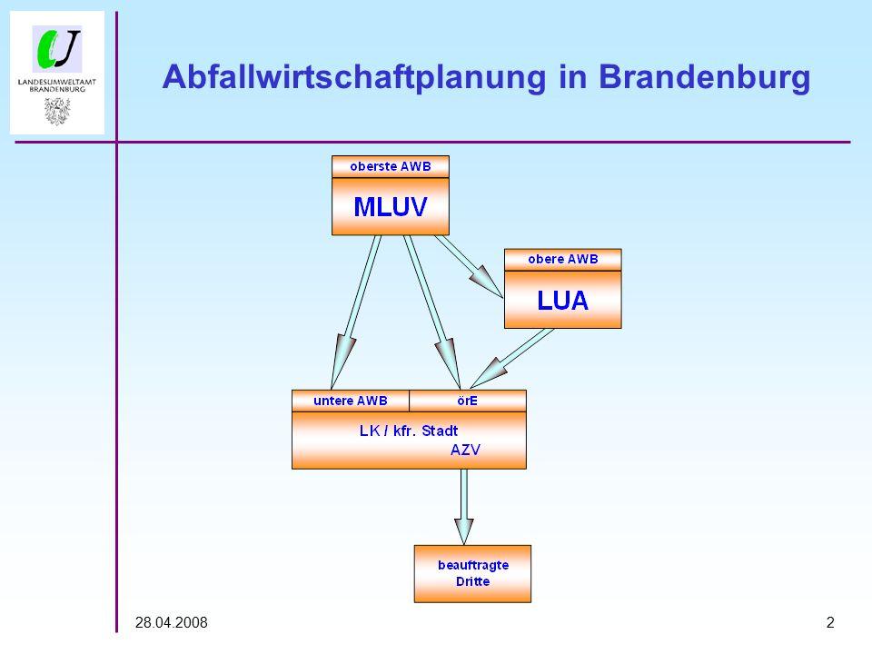 228.04.2008 Abfallwirtschaftplanung in Brandenburg