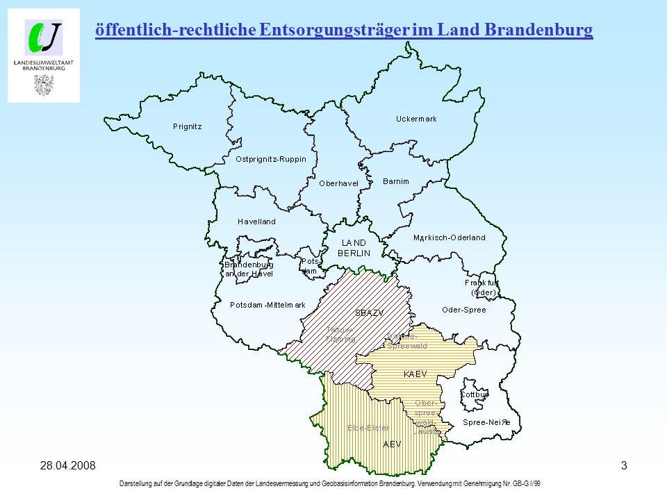 328.04.2008 Darstellung auf der Grundlage digitaler Daten der Landesvermessung und Geobasisinformation Brandenburg.