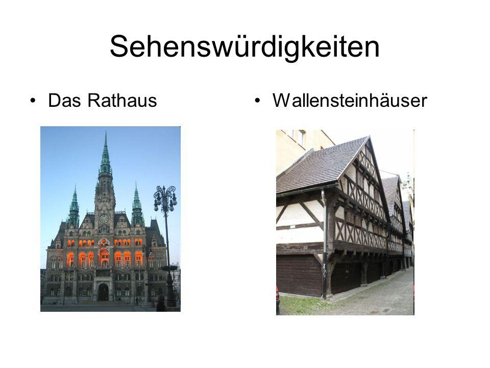 Sehenswürdigkeiten Das RathausWallensteinhäuser