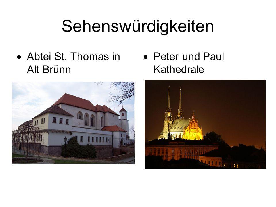 Sehenswürdigkeiten  Abtei St. Thomas in Alt Brünn  Peter und Paul Kathedrale