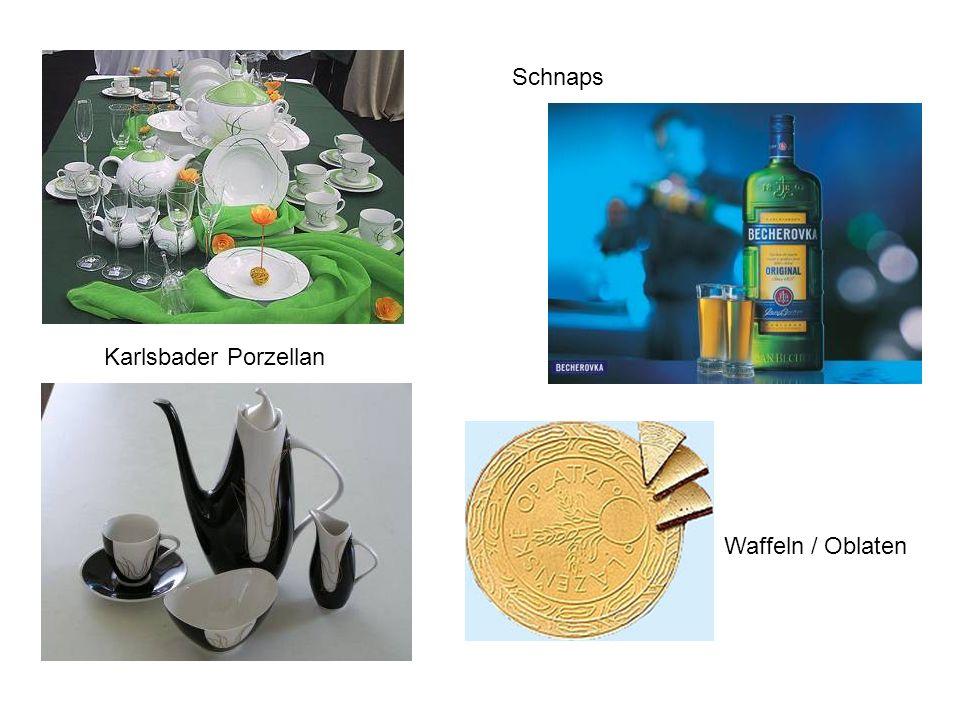 Karlsbader Porzellan Schnaps Waffeln / Oblaten