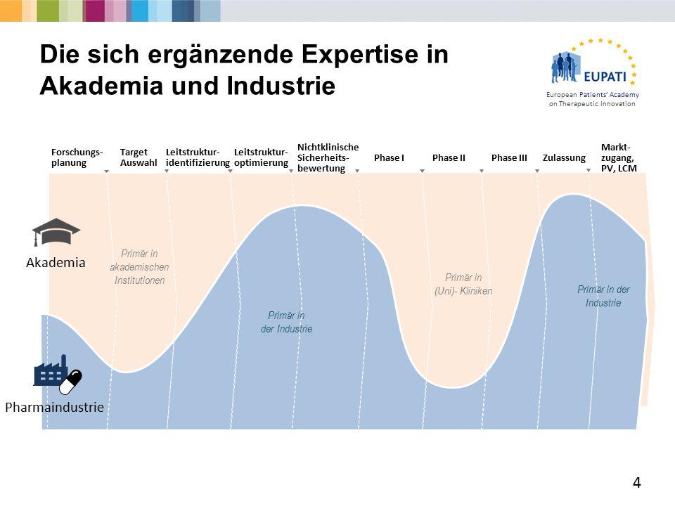 European Patients' Academy on Therapeutic Innovation  Jede Phase der Entwicklung erfordert eine Entscheidung über den Einsatz finanzieller und personeller Ressourcen ('Investment Decision' (ID)).