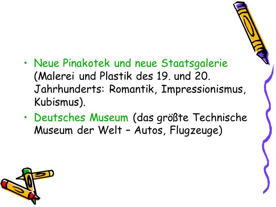 Neue Pinakotek und neue Staatsgalerie (Malerei und Plastik des 19.