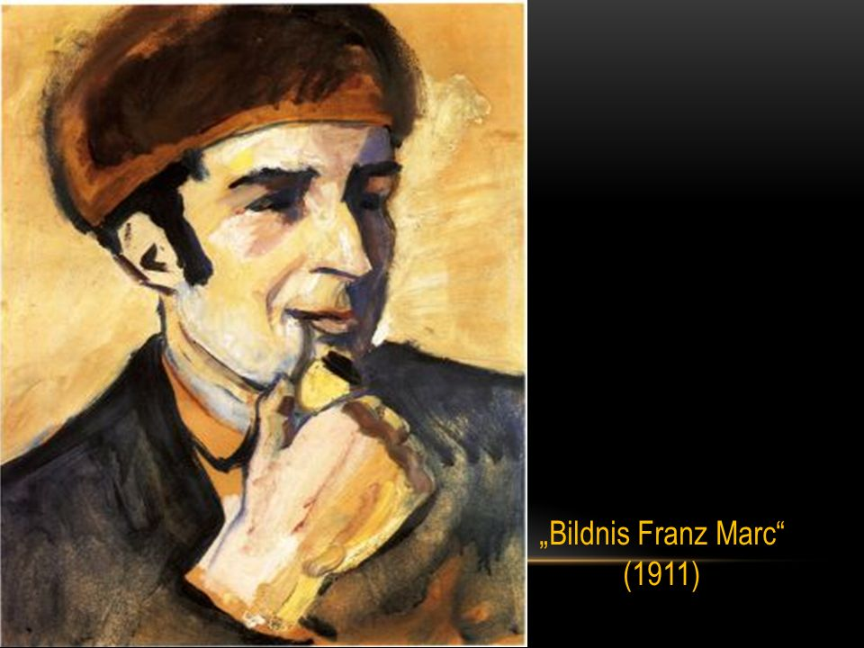"""Bildnis Franz Marc (1911)"