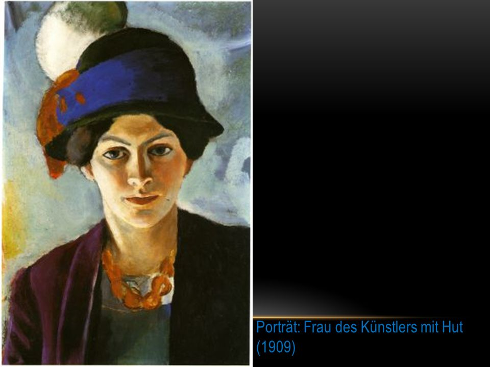 Porträt: Frau des Künstlers mit Hut (1909)