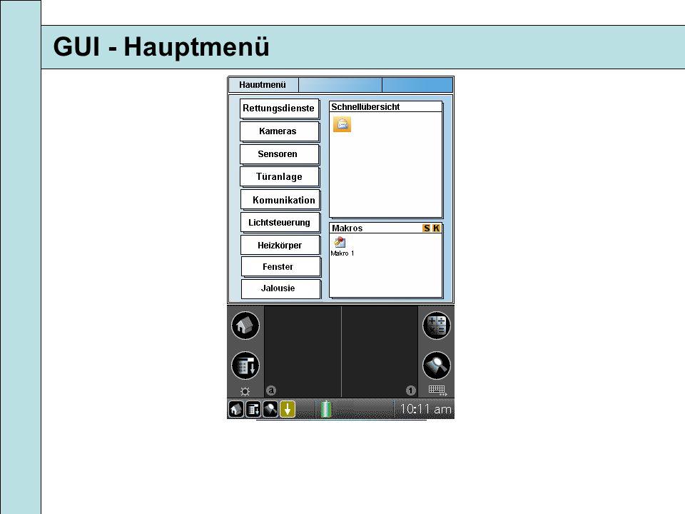 GUI - Hauptmenü