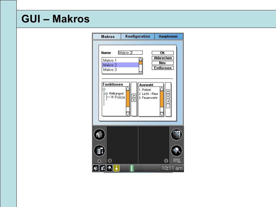 GUI – Makros
