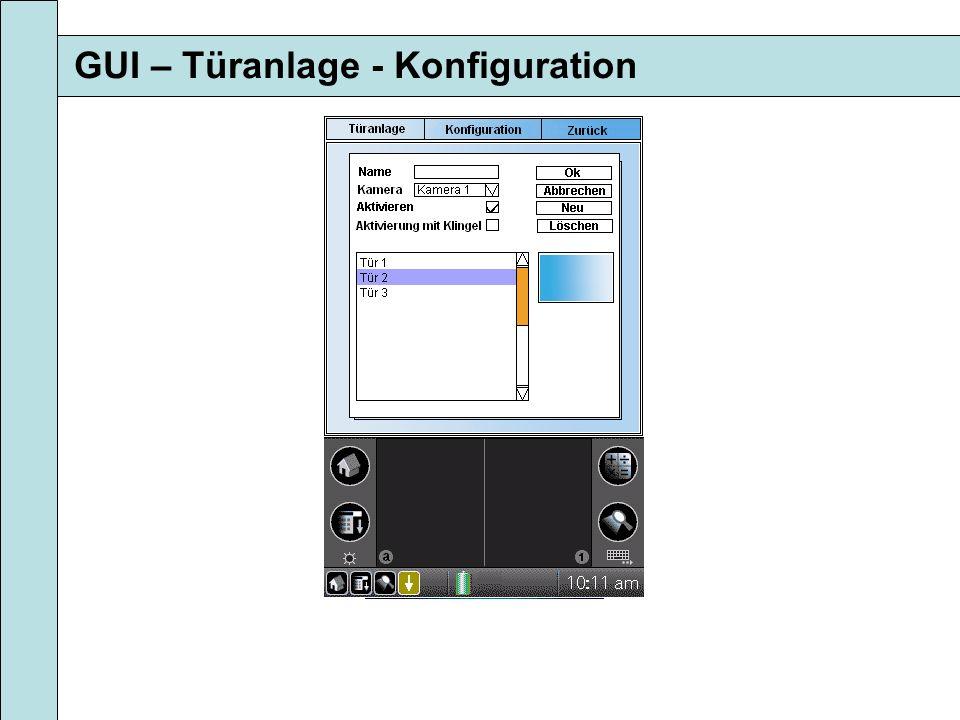 GUI – Türanlage - Konfiguration
