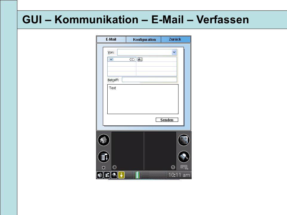 GUI – Kommunikation – E-Mail – Verfassen