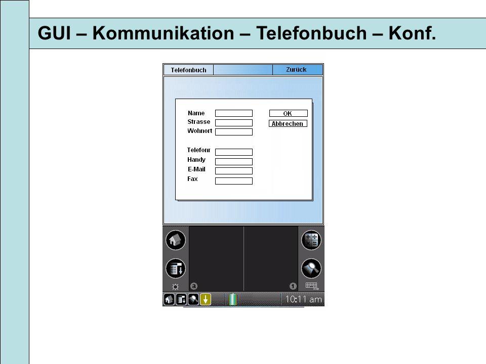 GUI – Kommunikation – Telefonbuch – Konf.