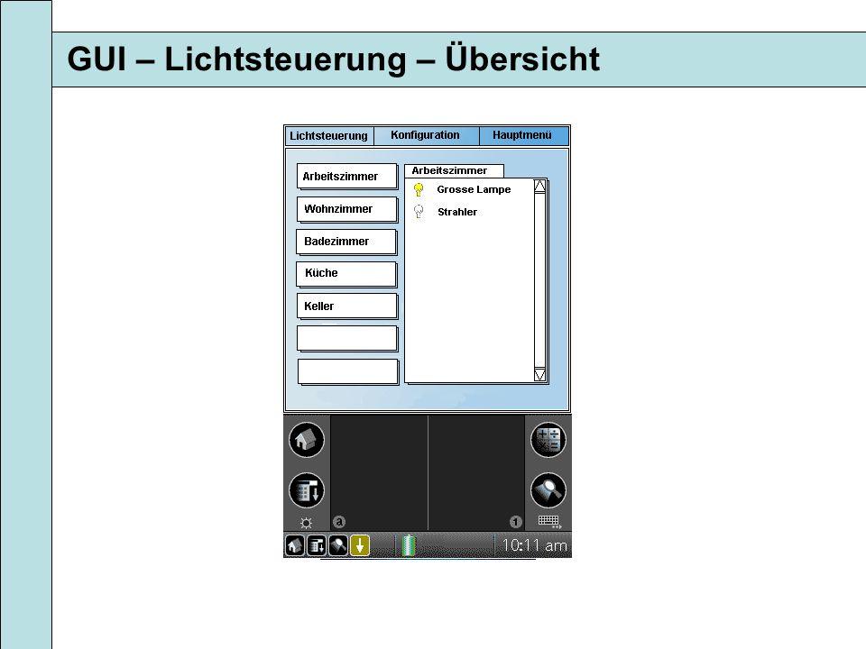 GUI – Lichtsteuerung – Übersicht